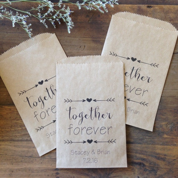 Wedding Gift Bags Printed : Wedding Favor Bags, Candy Bags, Personalized Custom Printed paper Bags ...