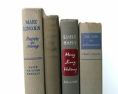 Gray Taupe Vintage Books / Book Decor / Instant Library / Decorative Books / Book Bundle / Home Decor / Old Books / Books to Decorate
