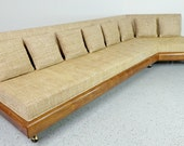 rare mid century modern long low authentic Adrian Pearsall 1800-S angled sofa