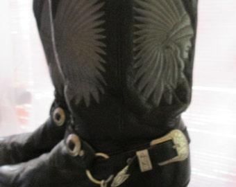 Vintage boots Cowboy man Boulet / Cowboy Man Boulet Boots