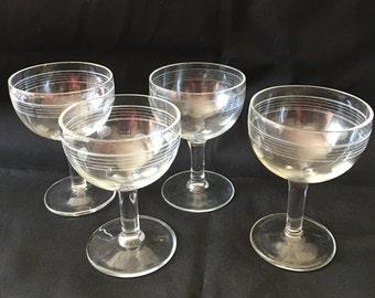 Victorian Era Cordial Glasses, [E]