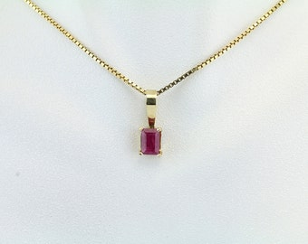 Ruby 14KT Gold Pendant - 48-10353