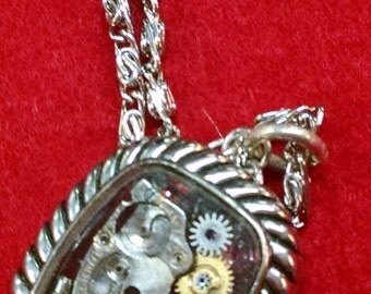 Hand Made Vintage Watch Necklace