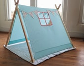 Play Tent with windows • Fabric Banner • Outdoor Tent • Play Tent