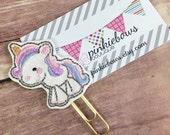 Pink/Blue/Purple/Gold/Unicorn/Sparkle Applique Paper Clip/Journal Marker/Bookmark/Planner Clip