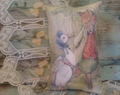 "Beatrix Potter ..11"" x 7"" Jemima Puddle Duck & Fox Pillow."