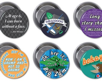 "Game Grumps Set B  2 1/4"" pinback buttons"