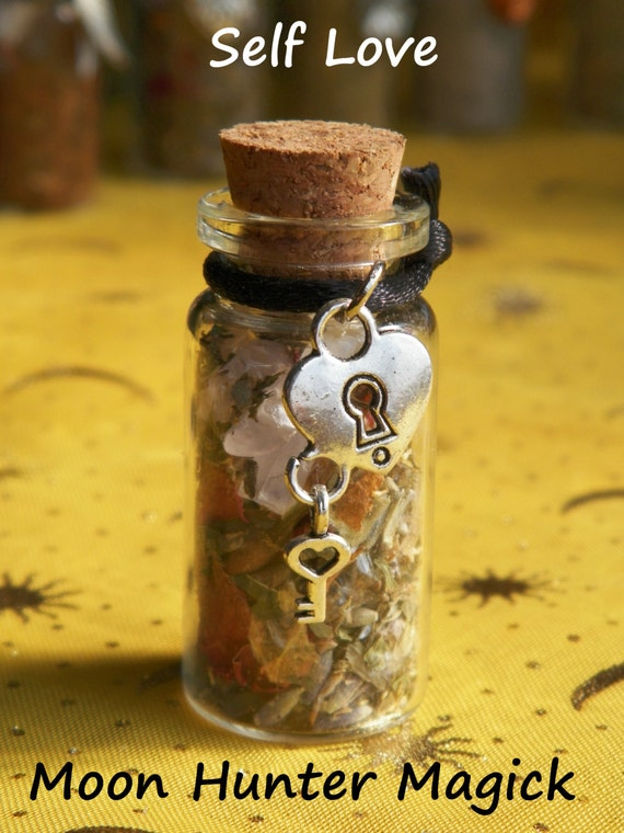 Self Love Self Esteem Confidence Witch Bottle Herbal Blend Ritual Supply