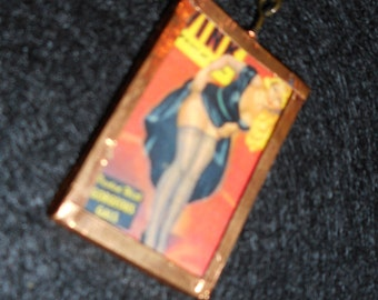 Wink Girly Magazine Pin-Up Girl Necklace