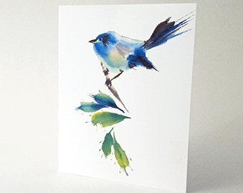 Bluebird Art Note Card Set of 8 A2 Size