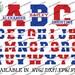 Digital Cut Files, Split Sport Letters, SVG, DXF, EPS, Varsity, Vinyl, Baseball, Basketball, Football, Soccer, Softball, Silhouette, Cricut