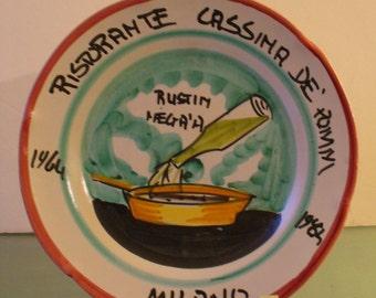Vintage Made in Italy Restaurant Souvenir Platter
