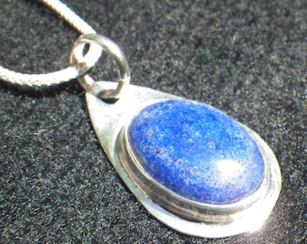 Spiritual development Lapis Lazuli Sterling Silver Necklace