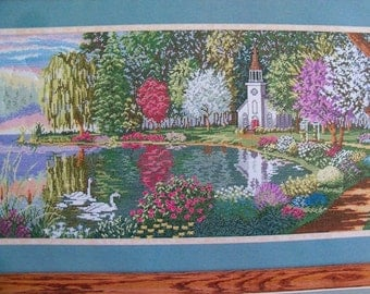 Counted Cross Stitch Kit,Sanctuary by Heritage Collection,in English,French,Spanish - FREE SHIPPING