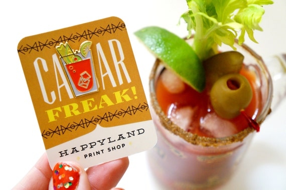 Caesar Freak! Enamel Cocktail Pin