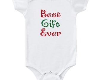 "Baby Bodysuit - ""Best Gift Ever"" Christmas baby onesie"