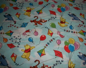 Winnie the Pooh Balloon Friends-   cotton fitted crib/toddler sheet