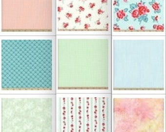 Wedding Cloth Napkins, Shabby Chic, Cottage Chic, Floral Designs, by Chow with ME