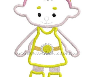 Yellow Cloud Babies Embroidery Design