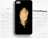 iPhone 6S GOLD Metallic Case, Feather iPhone 5s Case, Gold Feather iPhone 6 Case Gold iPhone 5C Case, Gold iPhone 6 Case, iPhone 6S Case M12
