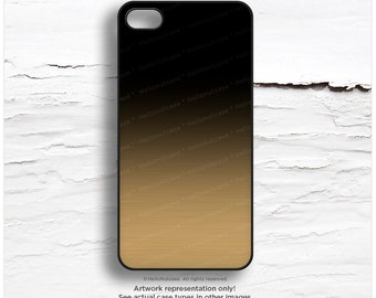 iPhone SE GOLD Metallic Ombre Case, Black Ombre iPhone 5s Case, Ombre iPhone 6 Case, iPhone 5C Case, Gold iPhone 6 Case, iPhone 6S Case M23