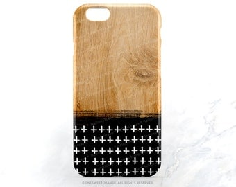 iPhone SE Case Wood Print iPhone 6S Plus Case Geometric iPhone 5s Case Black iPhone 6 Case Geometric iPhone 6 Case iPhone 6S Case T194