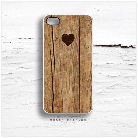 iPhone 6S Case Heart iPhone 5C Case Wood Print iPhone 5s Case Heart iPhone 6 Case Wood Heart Rustic iPhone 6 Case iPhone 6S Plus Cover T33