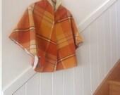 Women's Burnt Orange Woollen Cape.Free Size.