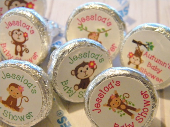 monkey baby shower favors personalized monkey baby shower favors