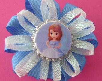 Sofia the First Disney Jr. Princess themed Bottlecap Hair Bows