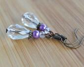 Crystal drop teardrop casual earrings