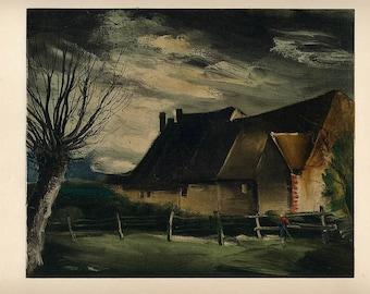 "Maurice de Vlaminck 23 ""House folle 1933"" size 12.5x 9.5"" Mourlot 1958"