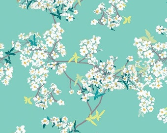 Yinghua in Rainwater - Pandalicious collection - Art Gallery Fabrics - Fat Quarter, Half Yard, or More