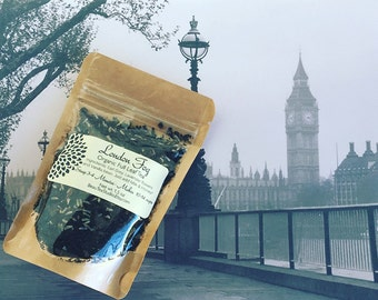 LONDON FOG Earl Grey / Vanilla Bean / Lavender Flowers  / Earl Grey Latte ~ Organic Loose Tea / Black Tea/ Hand-blended - Earl Grey Lovers