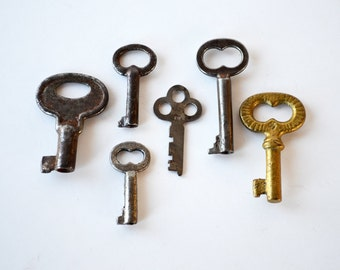 Vintage Skeleton Keys | Six Skeleton Keys | Authentic Old Keys | Steampunk