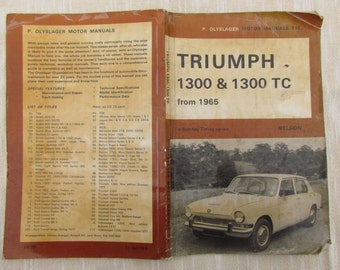 Triumph 1300 and 1300 TC Handbook - Sunday Times 1971 Classic Motor Car Booklet