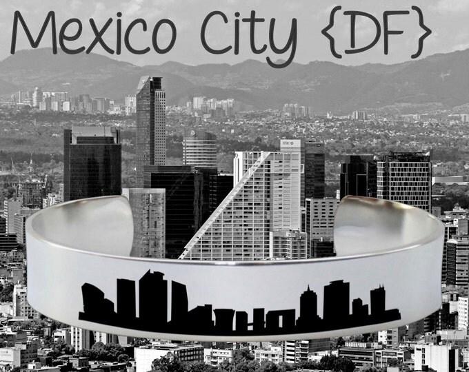 Mexico City DF Skyline | Cityscape Jewelry | Skyline Jewelry | Skyline Bracelet | Friend Gift | Travel Gift | Jewelry
