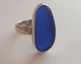 Custom Genuine Sea Glass Ring, Your Choice of SeaGlass, Made to Order Sea Glass Ring