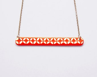 Necklace Little Engraved Tangerine