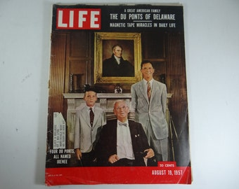 1957 Life Magazine, August 19,  The Du Ponts of Delaware - Russian Spy