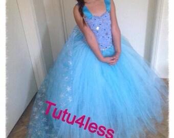 Disney Inspired Frozen Tutu Dress. Great for birthdays, photos, costume & princess party, Elsa, dress for toddler baby girls