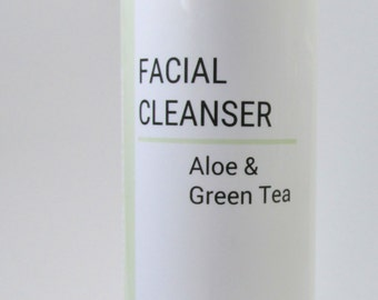 Face Wash, Green Tea, Natural Facial Cleanser, Natural Skin Care