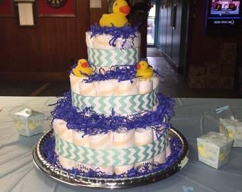 Custom Three Tier Diaper Cake