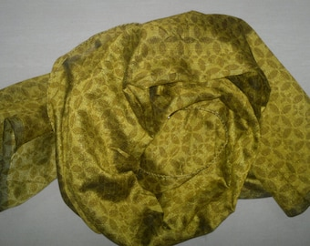 Small Scarf Indian Silk Scarf Neck Scarf Olive Green Scarf