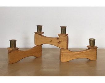 Folding Wooden Candle Holder