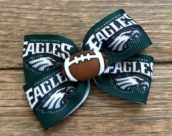 Philadelphia Eagles Dog or Infant Football Bow-Eagles Football Bow-Philadelphia Eagles Baby Bow-Small Eagles Football Bow-Eagles Dog Bow