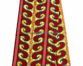 Best Quality Red African fabric /Holland wax print/ African Wax Print/ Ankara Fabric/ Ankara print/ African Clothing/ 6 yard  WP803B