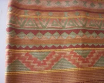 Geometrical shapes fabric/Aztec style Fabric/Cotton fabric/Cranston fabric/India fabric/Vintage fabric/Sewing supply/Southwestern fabric