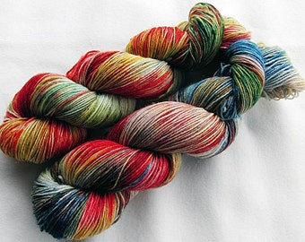 Handpainted Sock Yarn, 75 Wool  superwash, 25 Nylon 100g 3.5 oz.  Nr. 365
