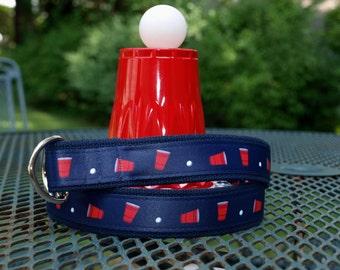 Beer Pong / Beer Pong Belt / Flip Cup Belt / Ping Pong Belt / Frat Party / Drinking Games Belt / College Belt / Beer Pong Table / Mens Belt